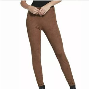 Lysse Hi Waisted Brown Suede Legging Size XL